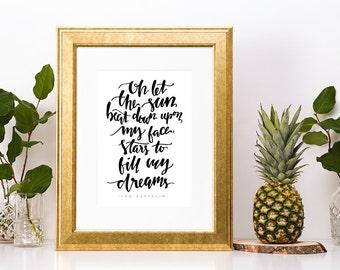 Led Zeppelin Kashmir Lyrics Art Print