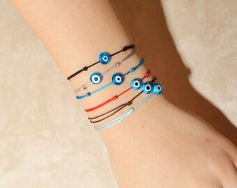 Red Kaballah Bracelet / Evil Eye Bracelet / Good Luck Bracelet / Red String Bracelet / Red Thread Bracelet / Charm Bracelet