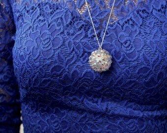 New Year's Eve Ball Pendant Necklace
