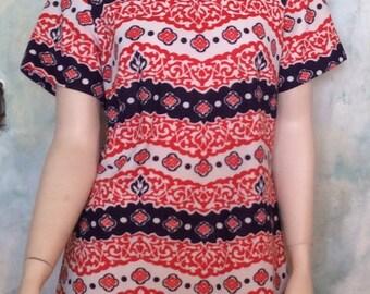 Vintage 60's Mod Sears Fashions Mid-century Dress