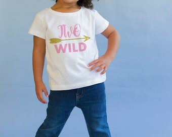 Two Wild Birthday Shirt - 2 Birthday Top - 2nd Birthday Shirt - Two Year Old - Two Birthday Gift- 2nd Birthday Outfit