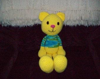 18 in Yellow Stuffed Cat