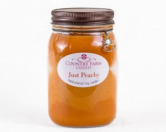 Just Peachy Soy Candle Charm Jar Container Candle - Large