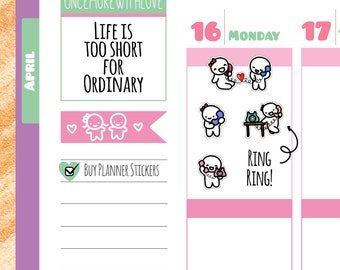 Munchkins - Ring Ring Phone Call Time Planner Stickers (M161)