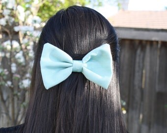 Large Light Blue Hair Bow