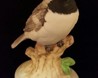 Vintage Lefton Black-capped Chickadee Figurine