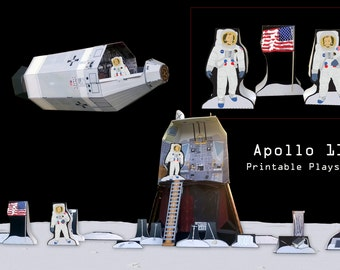 Apollo 11 Paper Toy Model & Educational Playset