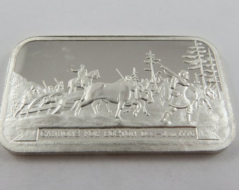 Dec-Jan 1776 Cannons for Boston Silver Art Bar Ser. # 000314 Columbia Mint made in 1977.