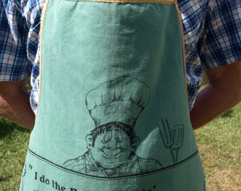 Retro The Cook Barbie BBQ or Barbecue Kitsch Apron - 70s 80s Sheila Novelty Gag Naughty Funny Grill Apron - Made in Australia