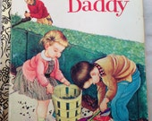 vintage Little Golden Book We Help Daddy LGB hardback 1962 edition Eloise Wilkin