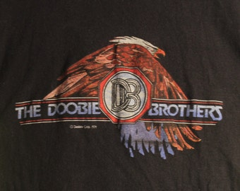 The Doobie Brothers Concert T Shirt! Authentic Vintage 1979! Doobie Bros. ~ Minute By Minute Summer  Tour 1979 [See Measurments]