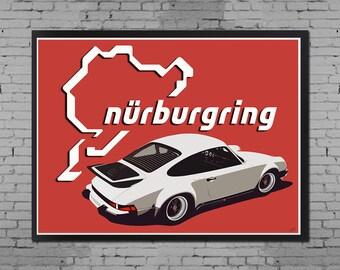Nurburgring Legend ( Porsche 911 / 930 Poster )