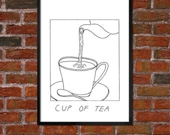 Badly Drawn Cup of Tea - Poster