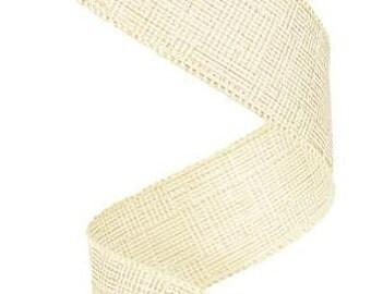 RIBBON - Wired Ribbon - Metallic Ribbon - Christmas Ribbon - Gold Ribbon - Cream Ribbon - Wreath - Floral - RG0101277
