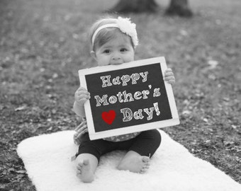 Happy Mother's Day Chalkboard Sign, Mother's Day Gift, Gift For Mom, Gift For Wife, First Mother's Day Photo Prop, Mother's Day Photo Gift