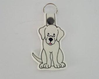 Labrador (Embroidery/Felt/Keychain)