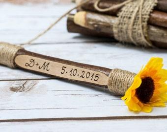 Sunflower Pen Guest Book Pen Guestbook Pen Rustic Tree Branch Pen Wedding ceremony
