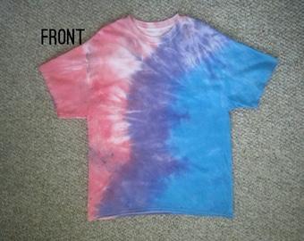 """Size XL: """"Evening Tide"""" Impromptu Tie Dye shirt #26"""