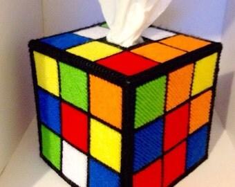Rubik's Cube Tissue Box / Kleenex Box Cover