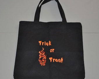 Halloween Candy Bag (Flaming Skull)