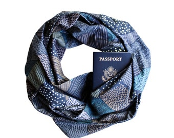 TWILIGHT HILLS Travel Infinity Scarf w/ {Secret Pocket}