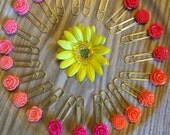 Rainbow of Colors Flower Planner Clips