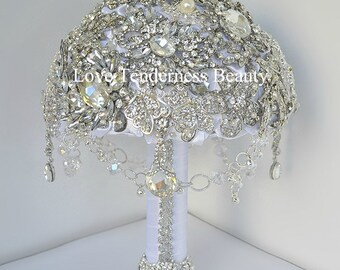 Wedding Accessories Wedding Bouquet Teardrop Jewelry Bridal Bouquet Brooch Bouquet White Wedding Bouquet Silver Bouquet Diamond Bouquet