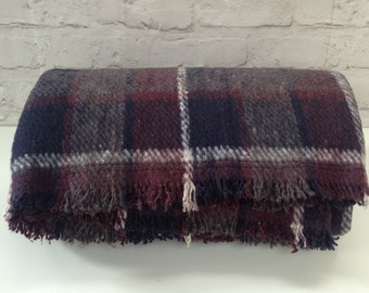 Vintage Blanket/Throw with 100% Recycled Materials