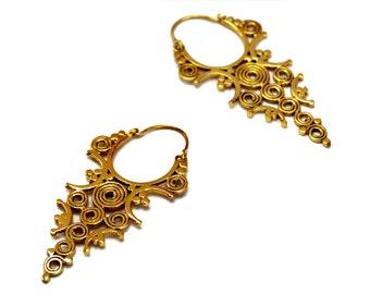 Indian Tribal Earrings, Brass Tribal Earrings, Brass Earrings, Ethnic Earrings, Indian Earrings, Tribal Jewelry, Ethnic Jewellery