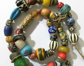 String of African Trade Beads