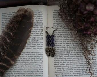 Women's: Owl Amethyst Earrings SALE!!!/FREESHIPPING
