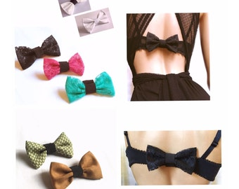Bow for bra / Bra bow /  Bra enhancer / Strap or hooks disguise / for backless dress or top women's fashion / Promo : Pay 3 = You get 4 !!!