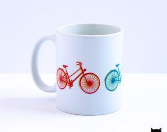 Pop Art Bike coffee mug for bike lovers