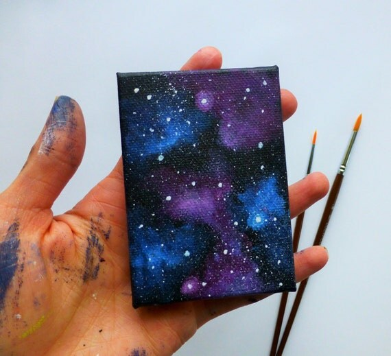 Galaxy Canvas Mini Painting Fridge Magnet Magnet Art