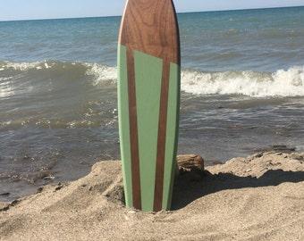 "Retro Vintage Handmade Mini Walnut Skateboard Deck 24"""