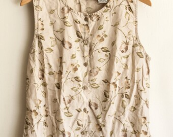 Ms Rose   Vintage sleeveless shirt