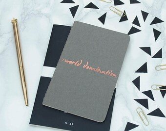 World Domination A6 Moleskine Notebook