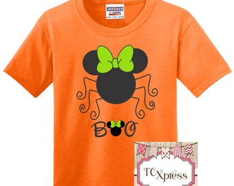 Halloween Disney Shirt, Minnie Spider Shirt, Minnie Halloween, Halloween Disney Trip, Minnie Mouse Shirt, Minnie Halloween, Boo Shirt