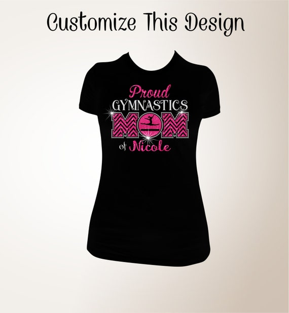 Items similar to proud gymnastics mom t shirt gymnastics Gymnastics t shirt designs