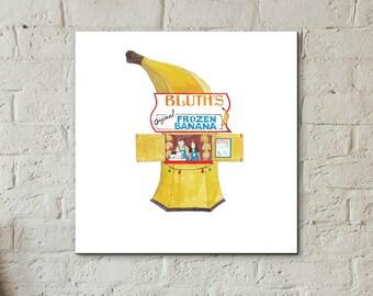 Watercolour Art Print, Arrested Development, Banana Stand, Pop Culture, Home Decor, Netflix, TV Print