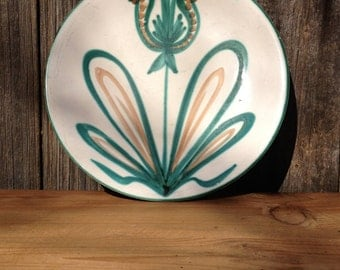 Robert Picault Ceramic Plate to Vallauris 1950, French Vintage Home Decor
