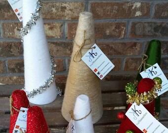 BLOWOUT SALE! Christmas Yarn Trees, Christmas Tree, Christmas Decor, Holiday Decor, Holiday Decorations, Free Shipping,