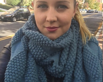Crochet Scarf Pattern: Harlequin bobble pattern - High End Look - Instant download