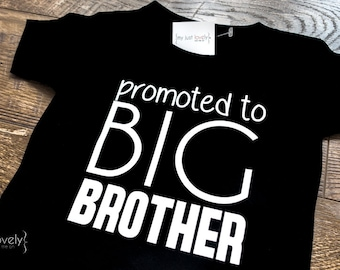 Promoted to Big Brother Iron On Transfer, DIY, Big Brother Shirt, Pregnancy Announcement, Big Brother Announcement Shirt, Big Brother Shirt