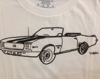Chevy Camaro Tee Shirt- Muscle Car Kids Tee Shirt- Children's Gift- Car Tee Shirt- Classic Cars- Muscle Cars- Size Small
