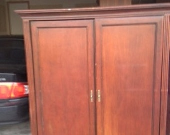 Wood Armoire/TV Cabinet