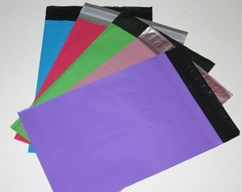 50 9x12 Poly Mailers Spring Easter Assortment Self Sealing Shipping Envelopes Green Neon Blue Purple Pale Pink Hot Pink