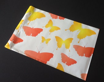 25 Designer Poly Mailers 10x13 Butterrflies Orange Yellow Envelopes Shipping Bags Spring