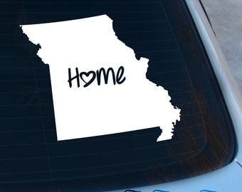 Missouri Decal - State Decal - Home Decal - MO Sticker - Love - Laptop - Macbook - Car Decal