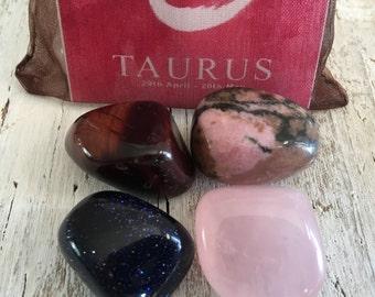 TAURUS Zodiac Stone Set | Horoscope Zodiac Kit, Crystal Healing Gemstone Kit | Mediation Stones